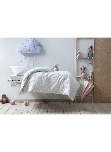 Hibboux 100x150 Rain Bebek Nevresim + Yastık Kılıfı - Whisper Renkli